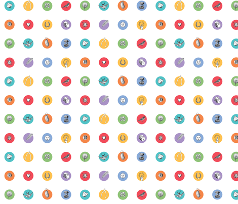 good luck dots small (zoom for better view!) fabric by jellymania on Spoonflower - custom fabric