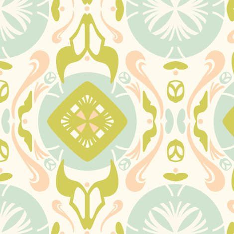 Fontaine d'Amour fabric by pinkhippoquilts on Spoonflower - custom fabric