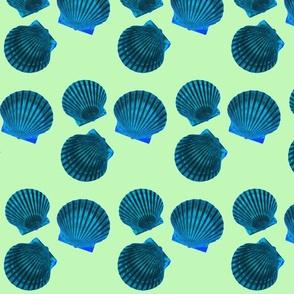 Scallop Shells Blue