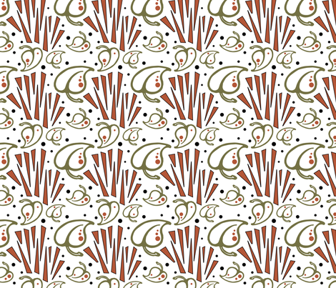 Art_Deco_Inspired_Pattern fabric by franny711 on Spoonflower - custom fabric