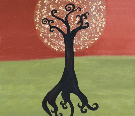 Dandelion Tree fabric by longfellow on Spoonflower - custom fabric