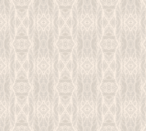 Beige Leaf Network © Gingezel™ 2012 fabric by gingezel on Spoonflower - custom fabric