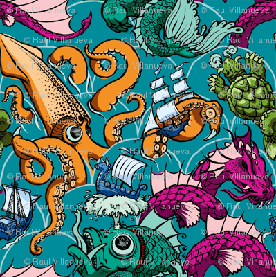 Sea Monsters (color)