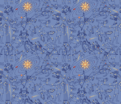 Constellation fabric by thirdhalfstudios on Spoonflower - custom fabric