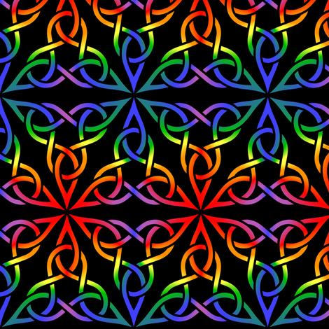 Triangle Knot- Rainbow fabric by shala on Spoonflower - custom fabric