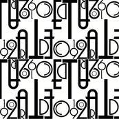 Art Deco Font-ilicious black & white
