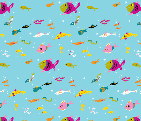 fish fabric by rose'n'thorn on Spoonflower - custom fabric