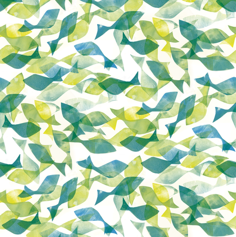 Ditsy_fish fabric by johanna_design on Spoonflower - custom fabric