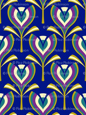 Deco tulips - blue