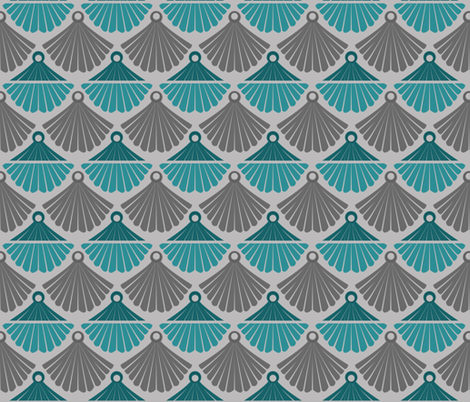 Diane's Deco - Teal fabric by run_quiltgirl_run on Spoonflower - custom fabric