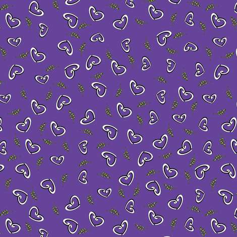 Peace Hearts  -  Grape fabric by inscribed_here on Spoonflower - custom fabric