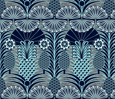 Arty Pineapples fabric by demigoutte on Spoonflower - custom fabric
