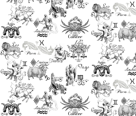 ZODIAC SIGNS fabric by bluevelvet on Spoonflower - custom fabric