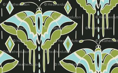 La maison des papillons - Butterflies Black & Green