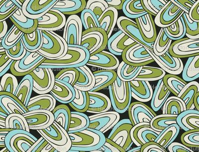 Just Swell - Abstract Geometric Green Black Aqua