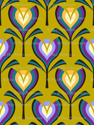 Deco tulips - mustard, gold and crocus