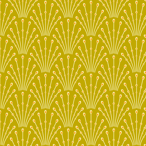 art deco beads - mustard fabric by coggon_(roz_robinson) on Spoonflower - custom fabric