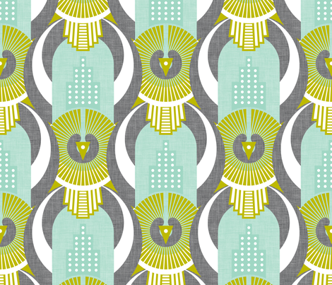 Art Deco Rio De Janeiro fabric by zesti on Spoonflower - custom fabric