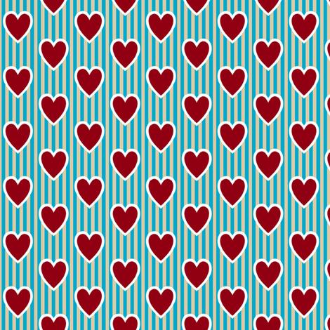Love Letter Hearts fabric by siya on Spoonflower - custom fabric