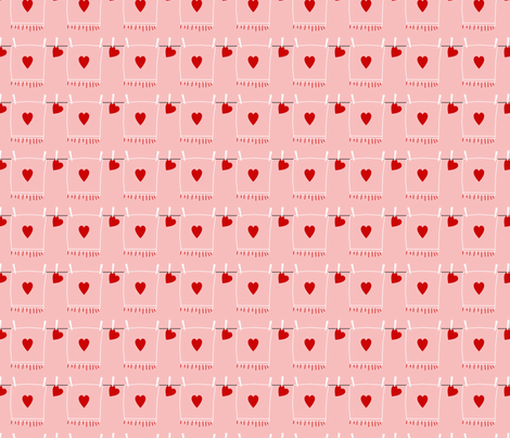 Heart on a String fabric by melissamarie on Spoonflower - custom fabric