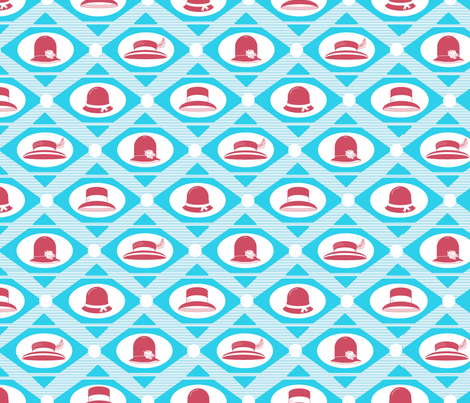 art deco hats fabric by babysisterrae on Spoonflower - custom fabric