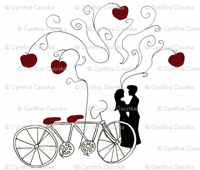 Apple Of My Eye Bicycle print