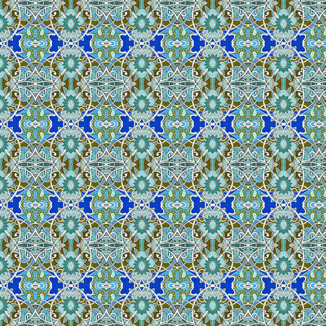 Teal and Olive Tango fabric by edsel2084 on Spoonflower - custom fabric
