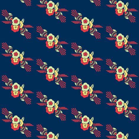 Deco Daisy Sunburst fabric by flapperfancies on Spoonflower - custom fabric