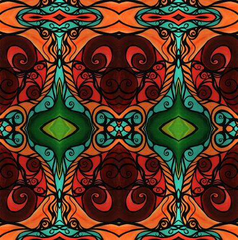 Emerald Taurus  fabric by heatherpeterman on Spoonflower - custom fabric