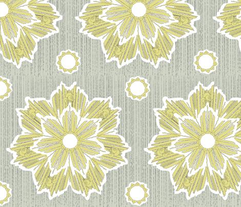 ROXY STAR in yarrow & stone fabric by trcreative on Spoonflower - custom fabric