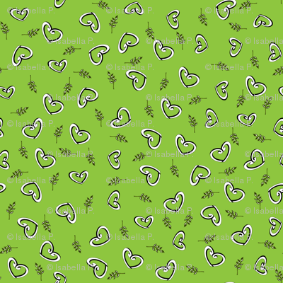 Peace Hearts  -  Lime
