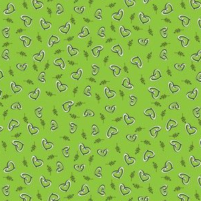 Peace Hearts  -  Lime