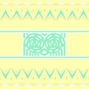Napier Owl Eyes - Yellow Background