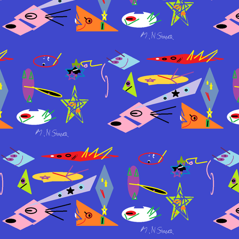 exotic_fish_ditzy fabric by mailyn on Spoonflower - custom fabric
