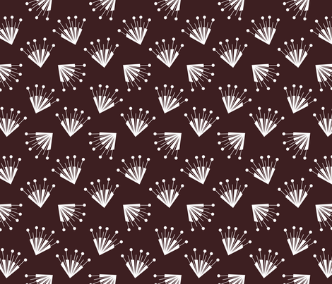 Brown Flower Art Déco fabric by happy_to_see on Spoonflower - custom fabric
