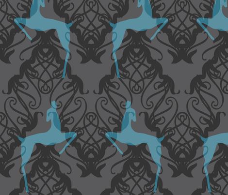 Deco Deer fabric by meredithjean on Spoonflower - custom fabric
