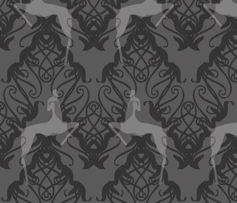 Deco Deer silver fabric by meredithjean on Spoonflower - custom fabric