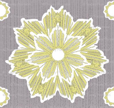 ROXY STAR in yarrow & plum gray