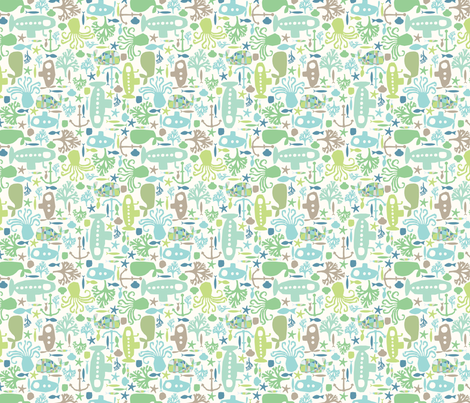I see creatures! fabric by mondaland on Spoonflower - custom fabric