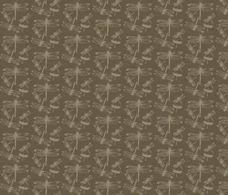 Dragonflies on Tobacco Burlap fabric by retrofiedshop on Spoonflower - custom fabric