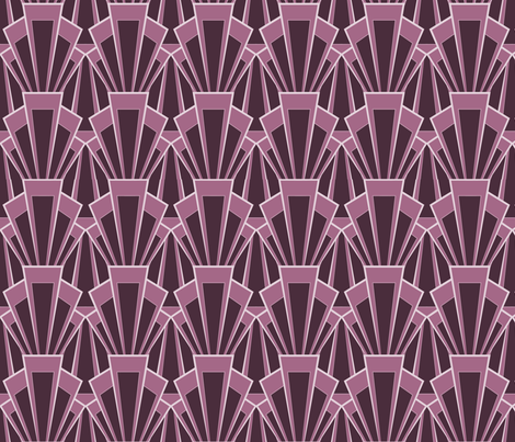 Large-scale Plum Deco Print fabric by crowlands on Spoonflower - custom fabric