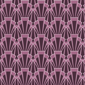 Large-scale Plum Deco Print