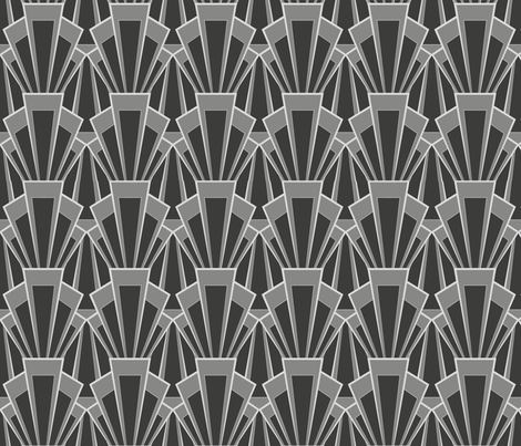 grey deco - large fabric by carabaradesigns on Spoonflower - custom fabric