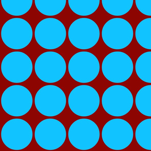 Big Dots in Blue & Brown
