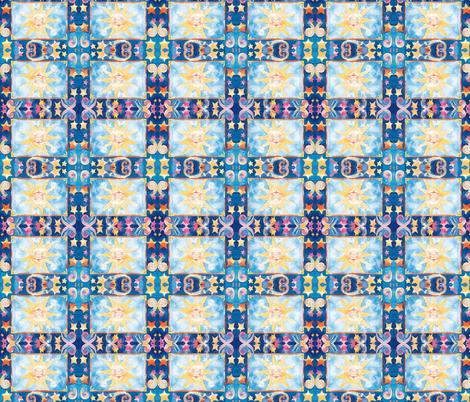 SUN & STARS fabric by bluevelvet on Spoonflower - custom fabric