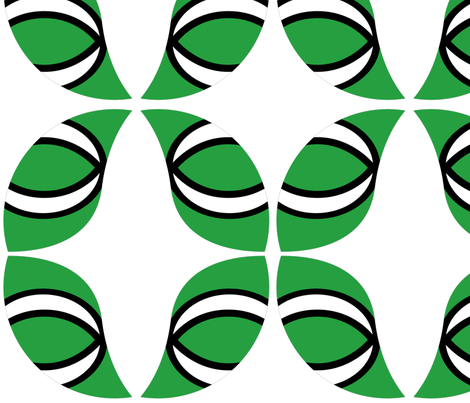 sushi green fabric by squareyed on Spoonflower - custom fabric