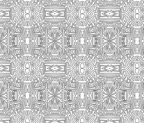 Mirrored fabric by angielatte on Spoonflower - custom fabric