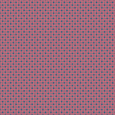 Blue and Pink Floral coordinating fabric ©2012 by Jane Walker fabric by artbyjanewalker on Spoonflower - custom fabric