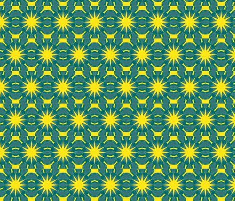 blue suns fabric by elarnia on Spoonflower - custom fabric