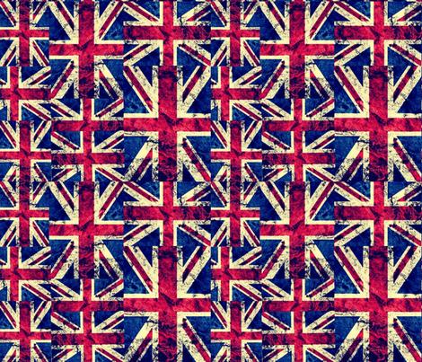 RETRO BRITISH FLAGS LARGE fabric by bluevelvet on Spoonflower - custom fabric